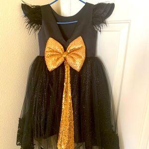 Girls black formal dress